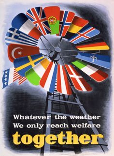 View this item and discover similar for sale at - Original vintage propaganda poster for the postwar US sponsored European Recovery Program known as the Marshall plan - Whatever the weather we must Vintage Posters, Vintage Art, Art Posters, The Marshall, Political Posters, Cold War, Vintage Advertisements, World War Ii, Planer