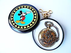 Vintage Original Mickey Mouse Railroad Pocket Watch by ChainsawAndCo