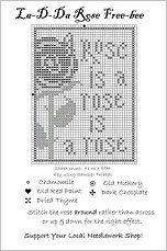 Rose Free Cross Stitch Chart from La-D-Da