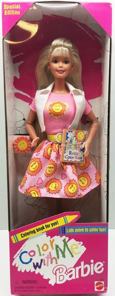 (TAS033326) - 1996 Mattel Color With Me Special Edition Barbie, , Dolls, Barbie, The Angry Spider Vintage Toys & Collectibles Store  - 1