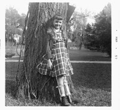polio pictures | Mom propped against the tree for this photo.