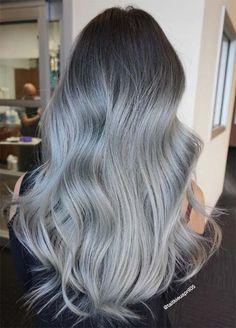 Granny Silver/ Grey Hair Color Ideas: Metallic Skyfall Silver Hair