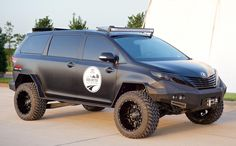 Toyota Builds An All-Terrain Minivan, Just Because It Can      Well this would be one awesome way to drop the kids at school.