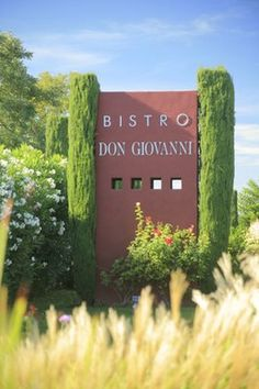 Bistro Don Giovanni Sign seen from Hwy. 29 in Napa Valley