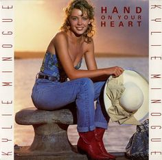 "For Sale - Kylie Minogue Hand On Your Heart UK 7"" vinyl single (7 inch record) - See this and 250,000 other rare & vintage vinyl records, singles, LPs & CDs at http://eil.com"