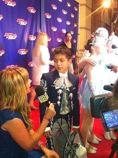 Sebastien being interviewed on the Red Carpet. America's Got Talent / #AGT