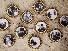 DIY Paper Fan Photo Ornaments from WhipperBerry #Christmas