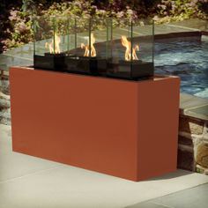 Aberdeen 3 x Cell Micro Fireburner X X Resin Planters, Outdoor Planters, Indoor Outdoor, Chariots Of Fire, Bbq Area, Outdoor Settings, Outdoor Entertaining, Light Decorations, Bioethanol Fireplace