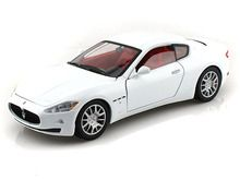 Motor Max 1/24 Scale Maserati Gran Turismo Diecast Car Model White 73361 - www.DiecastAutoWorld.com 2312 W. Magnolia Blvd., Burbank, CA 91506 818-355-5744 AUTOart Bburago Movie Cars First Gear GMP ACME Greenlight Collectibles Highway 61 Die-Cast Jada Toys Kyosho M2 Machines Maisto Mattel Hot Wheels Minichamps Motor City Classics Motor Max Motorcycles New Ray Norev Norscot Planes Helicopters Police and Fire Semi Trucks Shelby Collectibles Sun Star Welly