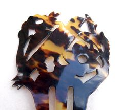 Hair comb, Victorian pre-ban tortoiseshell figural bird
