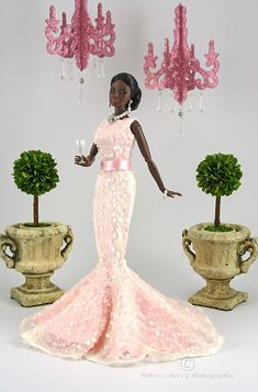 """Fire Within Jordan in pink Joe Tai 1 by think_pink1265, via Flickr Talk about a """"Collector's Item."""" FR doll, fashion by Joe Tai. Just too beautiful."""