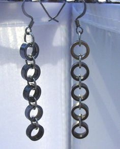 Bike Jewelry  Bike chain roller earrings by VeloGioielli on Etsy, $15.00