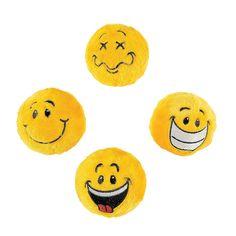 Plush Smile Face Bouncing Balls - OrientalTrading.com