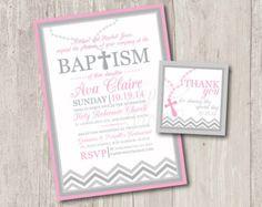 Para imprimir: Invitaciones del bautismo por ThePaperVioletShoppe