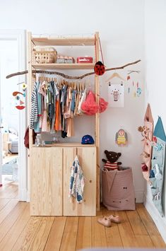 DIY Ikea Hacks DIY wardrobe Ikea Ivar quickly and cheaply Your Tip for Calming Fussy Babies Could Be Bedroom Storage Ideas For Clothes, Bedroom Storage For Small Rooms, Closet Ideas, Clothes Storage, Nursery Storage, Diy Clothes, Stylish Clothes, Closet Hacks, Cheap Clothes