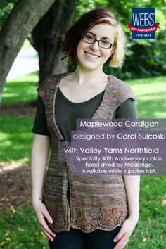 The Maplewood Cardigan by Carol Sulcoski - available exclusively at yarn.com