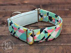 Martingale Collar, Greyhound Collar, Girl Dog Collar, PASTEL PRISM