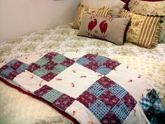 I was so excited.....this small handmade quilt was only $10......is in wonderful shape and such a nice compliment to my guestroom.....it was in with fabric scraps. So digging can be fun.....