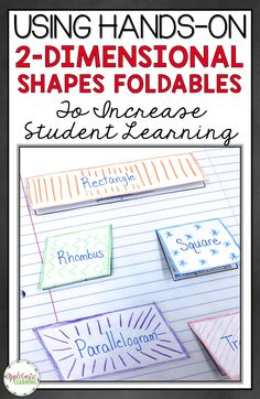 2-D Shapes Foldables