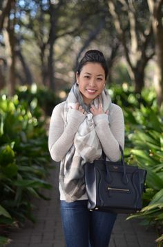 Celine Micro Luggage · the blanket scarf  amp  top bun -- ASOS blanket  scarf 8e41f3836405b