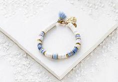 Clay Jewelry, Beaded Jewelry, Jewelry Bracelets, Jewelery, Handmade Jewelry, Tel Aviv, Tassel Necklace, Jewelry Making, Diy