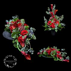 Grave Flowers, Funeral Flowers, Ikebana, Memorial Day, Flower Arrangements, Diy And Crafts, Floral Wreath, Valentines, Wreaths