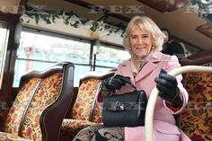 The Duchess of Cornwall meets volunteers restoring locomotives and travel by steam train from Haworth to Oxenhope to celebrate the 50th anniversary of the Keighley and Worth Valley Railway, The Railway Station, Haworth, 16.02.2018