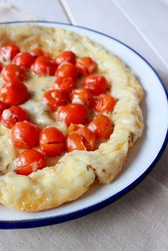 Tarta Tatin de tomates y mozzarella