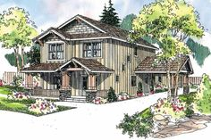 Alderdale 30-573 - Narrow Lot Home Plan from Associated Designs