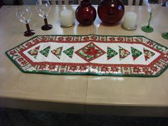 Red Poinsettia Centered Christmas  Table by KaTerryTheSewSisters, $20.00