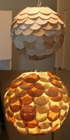 luminária japonesa, circulos de papel