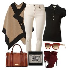 """""""Burberry"""" by b-nieves ❤ liked on Polyvore featuring Burberry"""