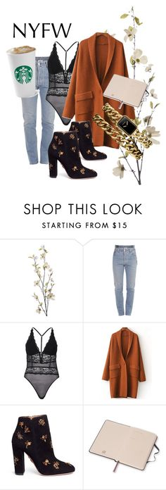"""""""Romantic jungle NYFW"""" by anajessika ❤ liked on Polyvore featuring Pier 1 Imports, Vetements, River Island, Aquazzura and Chanel"""