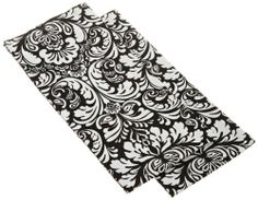 DII Printed Black Damask Dishtowels, Set of 2 by DII. $11.40. Coordinates with dii printed damask patterns. 100% Cotton. Classic, clean damask look. Set of 2 dishtowels. Machine washable. Perfect hostess gift. Set of 2 black damask dishtowels. These dishtowels coordinate with all DII black printed damask. Add a classic, clean look to your kitchen. Each towel measures 18 x 28-inch, 100-percent cotton and machine washable.