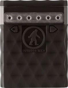 Outdoor Tech Kodiak 2.0 USB Power Bank 6000 Milli Amp: with LED light strip