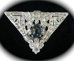 Gorgeous Triangular Art Deco Clip with a by TributetoVintage, $40.00