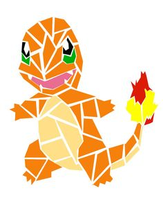 This digital file depicts the Pokemon Charmander. The file would make a perfect addition to the decor of any Pokemon loving person! This