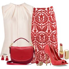 """Red Ruby Lips"" by mrsbro on Polyvore"