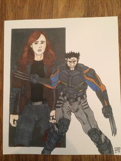 X-men: Days of Future Past Wolverine Print on Etsy, $15.00