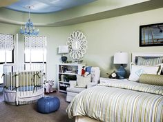 141 best Share room with parent-guest room images on Pinterest ... Nursery In Master Bedroom on nursery sets and collections, crib in our bedroom, baby crib in bedroom, nursery in guest bedroom,