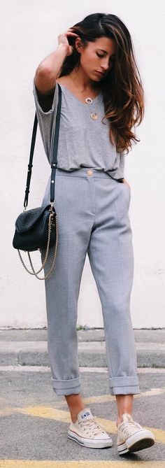 all dressed up in grey
