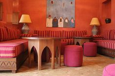 Charmant Moroccan Interior Of A Breakfast Room In The Riad They Visited, In The  Medina Of