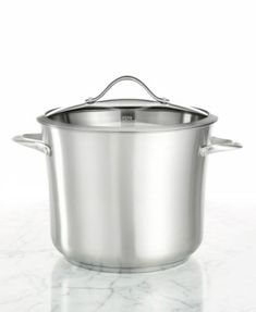 Calphalon Contemporary Stainless Steel 12 Qt. Covered Stockpot | macys.com