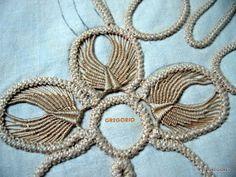 Tutorial macrame rumeno, point lace, laseta, pizzo rinascimento uncinetto,trine,cordoncini,merletto ad ago,disegni,ricamo,uncinetto, Needle Tatting, Needle Lace, Bobbin Lace, Irish Crochet, Crochet Motif, Crochet Lace, Tambour Embroidery, Hand Embroidery Stitches, Tatting Patterns