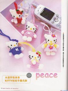 Blog de Goanna: Amigurumi: Patrón de Hello Kitty (Colgante para el móvil)
