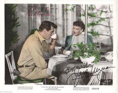 Rock Hudson Jane Wyman Original Signed Autographed All That Heaven Allows Photo