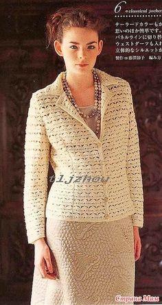 Crochet Jacket, Crochet Cardigan, Sweater Cardigan, Crochet Magazine, Cardigan Pattern, Crochet Woman, Crochet Hooks, Crochet Top, Crochet Clothes