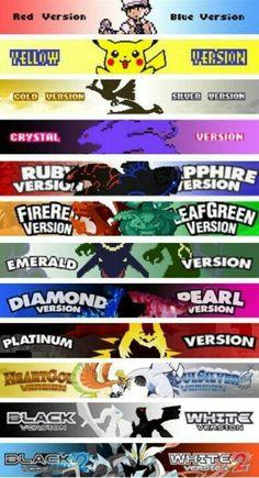 All Pokemon games up to Black two and white two Pokemon Fusion, Pokemon Go, Pokemon Pins, Pokemon Memes, Pokemon Fan Art, Cool Pokemon, Pokemon Stuff, Pokemon Comics, Pikachu