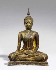Big Maravijaya Bouddha. Bronze. Thaïlande, Sukhothai. 14/15. Siècle.