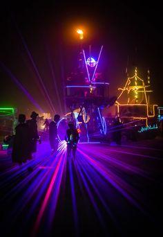 Burning Man @ night